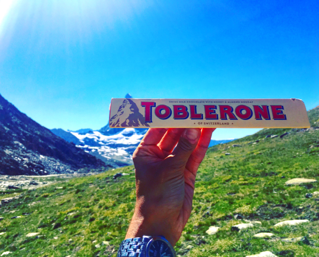 Photogenic and delicious: The Matterhorn is sometimes known as the 'Toblerone Mountain' for obvious reasons...